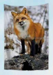 wall decor for living rooms cute fox tapestry cloth poster