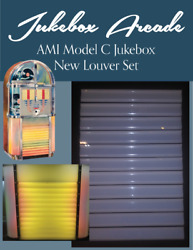 New Ami Model C Acrylic Front Grille Louver Set Jukebox Arcade Exclusive