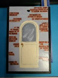 Dollhouse Artisan Artistand039s Great Room With Grand Stair Roombox Original Pristine
