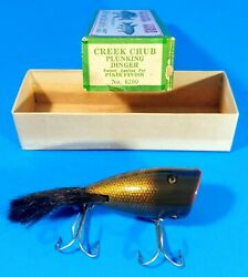 Vintage Creek Chub Plunking Dinger No. 6200 Pikie Finish In Box Near Mint. Ccbco