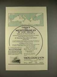 1923 Thos. Cook And Son Belgenland Cruise Ship Ad