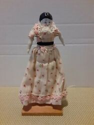 Antique Vintage Bisque? Porcelain? amp; Cloth Dollhouse Doll Beautiful #5