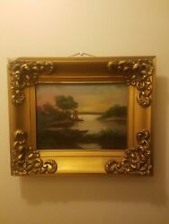 Antique Oil Painting Signed Klein