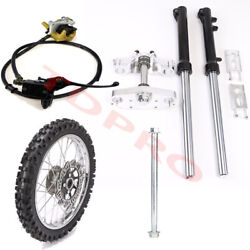 Front Fork Triple Tree 14 Front Wheel End Brake Caliper For Crf70 Ssr125 Apollo