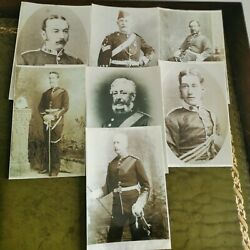 Vintage Lot Of Antique Military Photograph Copies Of Military Men. Green Howards