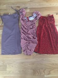 Lot of 3 Juniors Dresses Forever 21 Zaful Ivrose Size Small.  Very Cute!! $4.99