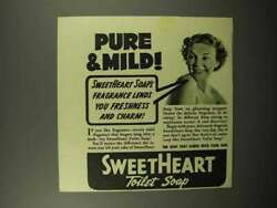 1940 Sweetheart Soap Ad - Pure And Mild