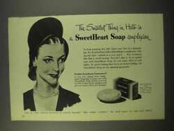1945 Sweetheart Soap Ad - The Smartest Thing In Hats