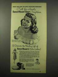 1947 Sweetheart Soap Ad - Call For A Lovely Complexion
