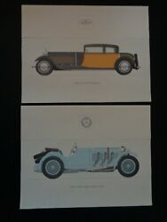 Vintage 12 Classic Auto Prints 1925-1941 From Custom Component Switch