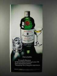 1975 Tanqueray Gin Ad - Own A Bottle