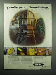 1984 Minwax Antique Refinisher Tung Oil Finish Ad
