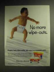 1998 Huggies Baby Wipes Ad - No More Wipe-outs