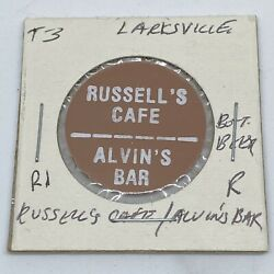 Russellandrsquos Cafe Alvinandrsquos Bar Larksville Pa Good For Bottle Beer In Trade C460