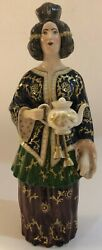 Rare Antique Early 19c Imperial Russian Porcelain Figurine/bottle A. Popov