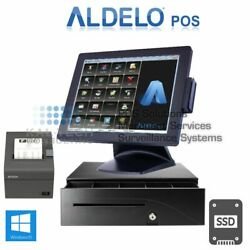 Brand New Aldelo Pro Bar Grill Restaurant All-in-one Complete Pos System Bundle