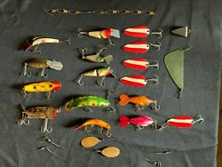 Vintage Metal Umco Fishing Tackle Box With Rods Lures And Fly Tying Materials