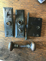 Brass Interior Mortis Lock, Knobs, And Door Plates Made By Russwin