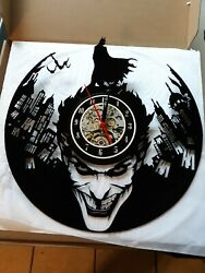 3D Batman Joker Vinyl Record Wall Clock Wall Art Home Decoration Halloween Gift
