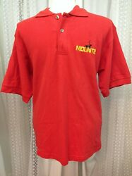 Mountie RCMP Royal Canadian Mounted Police Red Polo Shirt Men's Size Large NWT $40.00