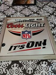 Coors Light Nfl Its On Mirror