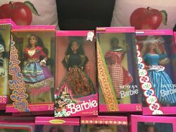 Dolls Of The World Barbie Collection 65 Most Mib, 7 Open/not In Box