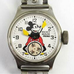 Pedre Old Mickey Mouse Watch Automatic Menand039s Limited Antique Used Excellent