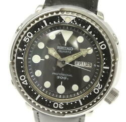 Seiko Professional Diver Day Date 7549-7010 Quartz Leather Menand039s Watch