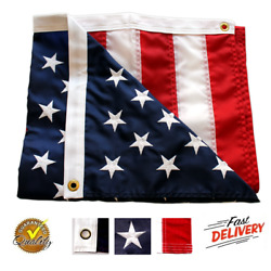 3#x27;X5#x27; ft American Flag US USA EMBROIDERED Stars Sewn Stripes Brass Grommets $13.49