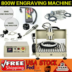 Cnc 3040 5axis Usb Router Engraving Mill 3d Cutter Engraver Machine W/ Handwheel