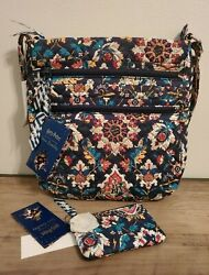 Nwt Vera Bradley Triple Zip Hipster And Zip Id Case Harry Potter Home To Hogwarts