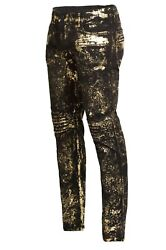 Robin's Mens Authentic 595 Slim Skinny Distressed Jeans Sp50158 Size 36x34