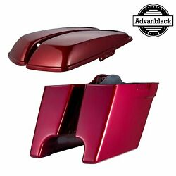 Hard Candy Hot Rod Red Flake 4.5 Stretched Extended Saddlebags For Harley 14+