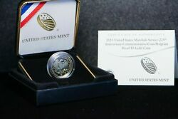 Gold 2015-w U.s. Marshals Service 5 Proof Coin With Box And Coa-1/4 Ounceoz