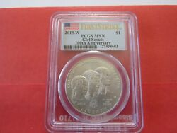 2013-w Girl Scouts 100th Anniversary Dollar 1 Pcgs Ms70dcam - First Strike