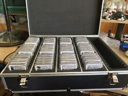 2010 -21s Silver 25c Complete Set 70 Coins Ngc70