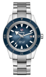 New Rado Captain Cook Automatic Stainless Steel Blue Dial Men's Watch R32105208