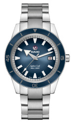 New Rado Captain Cook Automatic Stainless Steel Blue Dial Men's Watch R32105203