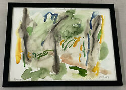 Jack Roth Firenzie Original Abstract Watercolor C.1981