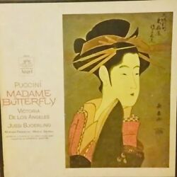 Puccini Madame Butterfly De Los Angeles Bjoerling Rome Opera 3lp Box Angel 3604