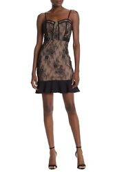NWT Nordstrom Rack Sugar Lips Size S Lady Marmalade Lace Bustier Peplum Dress  $28.00