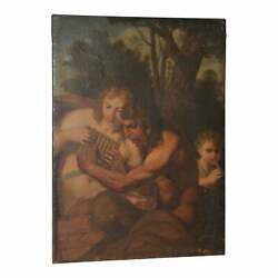 Panand039s Conquest Of Selene Original Oil Painting 18th To 19th Century