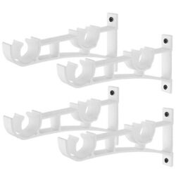 3xdouble Curtain Rod Holders Set Curtain Rod Brackets Tap Right Into Win V7l8