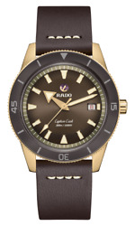 New Rado Captain Cook Auto Bronze Brown Dial Leather Band Men's Watch R32504306