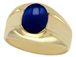 Vintage 1980s 2.10 Ct Star Sapphire And 18 Ct Yellow Gold Dress Ring