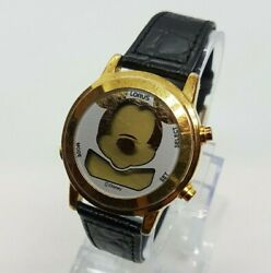 Mickey Mouse Lorus Watch Vintage Digital Lcd Watch For Men And Women 90s Watches