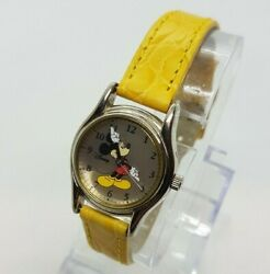 Seiko Mickey Mouse Vintage 90s Classic Yellow Strap Elegant Classic Dial Watches