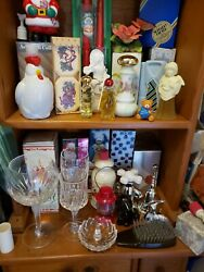 Vintage Avon Silver Plated Huge Lot Of Perfume And Cologne Bottlesand Gife Items