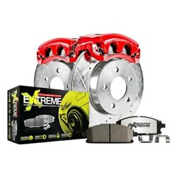 For Bmw 740il 95-01 Brake Kit Power Stop 1-click Street Warrior Z26 Drilled And
