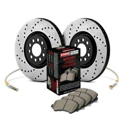For Dodge Dart 13-15 Stoptech 989.63018f Sport Drilled 1-piece Front Brake Kit